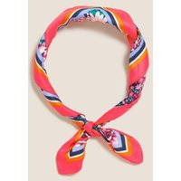 M&S Womens Printed Floral Neckerchief - 1SIZE - Pink Mix, Pink Mix