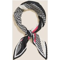 M&S Womens Printed Pleated Scarf - 1SIZE - Black Mix, Black Mix,Lime Mix,Blue Mix,Brown Mix