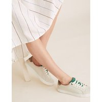 M&S Womens Lace Up Trainers - 4.5 - Stone, Stone