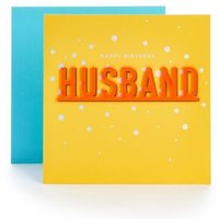 M&S Husband Neon Letters Birthday Card - 1SIZE