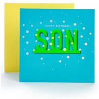 M&S Son Neon Letters Birthday Card - 1SIZE