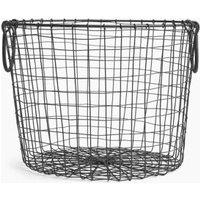 M&S Wire Round Storage Basket - 1SIZE - Black, Black