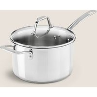 M&S Stainless Steel 20cm Small Saucepan - 1SIZE - Silver, Silver