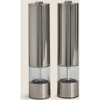 M&S Electric Salt & Pepper Mills - 1SIZE - Silver, Silver