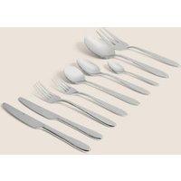 MandS 44 Piece Maxim Cutlery Set - 1SIZE - Silver, Silver
