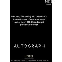 MandS Hungarian Goose Down and Feather Medium Pillow - 1SIZE - White, White
