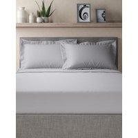 M&S Egyptian Cotton 400 Thread Count Percale Oxford Pillowcase - 1SIZE - White, White,Ash Grey,Light