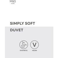 M&S Simply Soft 13.5 Tog Duvet - 5FT - White, White