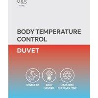 M&S Body Sensortm 7.5 Tog Duvet - 5FT - White, White