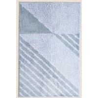 M&S Geometric Quick Dry Bath Mat - 1SIZE - Denim, Denim,Grey,Teal