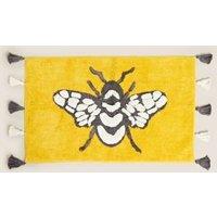 M&S Pure Cotton Bee Bath Mat - 1SIZE - Ochre, Ochre