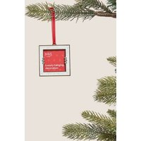 M&S Gold Hanging Photo Frame Decoration - 1SIZE - Silver, Silver