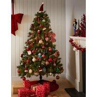 M&S 6ft Pre-Lit Pine Christmas Tree - 1SIZE - Green, Green