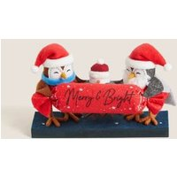 M&S Robin Trio Room Decoration - 1SIZE - Red, Red
