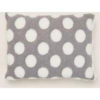 MandS Polka Dot Small Bolster Cushion - Charcoal Mix, Charcoal Mix