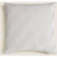 M&S Velvet Medium Cushion - 1SIZE - Silver Mix, Silver Mix,Blush