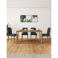 M&S Chamfer Extending Dining Table - 1SIZE - Oak, Oak