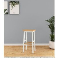 M&S Padstow Tall Barstool - 1SIZE - Ivory, Ivory,Dark Blue