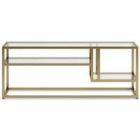 M&S Charleston TV Unit - 1SIZE - Polished Brass, Polished Brass