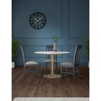 M&S Charleston Round Dining Table - 1SIZE - Polished Brass, Polished Brass