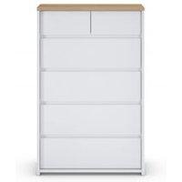 M&S Loft 6 Drawer Chest - 1SIZE - White, White