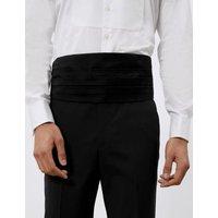 M&S Jaeger Mens Silk Cummerbund - 1SIZE - Black, Black