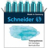 Schneider Pastell Tintenpatronen für Füller Bermuda Blue 6 St.