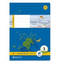 Staufen® Schulhefte Style Lineatur 2 (2. Schuljahr) liniert Rand rundum