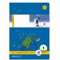 Staufen® Schulhefte Style Lineatur 1 (1. Schuljahr) liniert Rand rundum