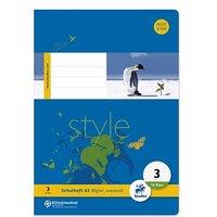 Staufen® Schulhefte Style Lineatur 3 (3. Schuljahr) liniert Rand rundum