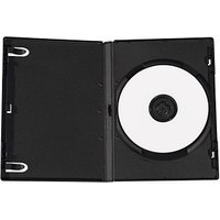 5 MediaRange 1er CD-/DVD-Hüllen  schwarz