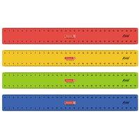 BRUNNEN Lineal 30,0 cm, rot, gelb, grün oder blau