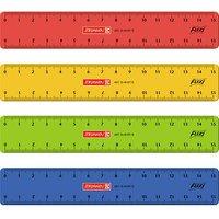 BRUNNEN Lineal 15,0 cm, rot, gelb, grün oder blau
