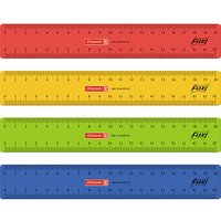 BRUNNEN Lineal 20,0 cm, rot, gelb, grün oder blau
