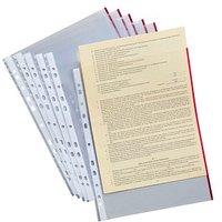 50 Lands Prospekthüllen   rot-transparent glatt