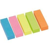 inFO Brillantmix Haftmarker farbsortiert 5x 100 Streifen