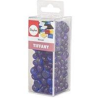 Rayher Mosaiksteine Tiffany Glas blau 1,0 cm 1 Pack