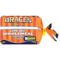 Brace's Family Bread Long Loaf Wholemeal Medium Sliced Bread 400g