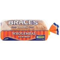 Brace's Classic Wholemeal Sliced Bread 800g