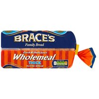Brace's Family Bread Dark & Delicious Wholemeal Thick Sliced Bread 800g