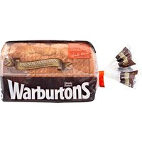 Warburtons Premium Brown Medium Sliced Bread 400g