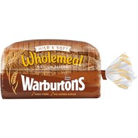 Warburtons Wholemeal Medium Sliced 800g