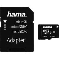 HAMA microSDXC UHS-I CL10 128Go+AD Carte mémoire (Noir)