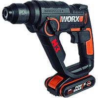 Worx WX390.2 20V 2.5Ah Li-ON Akku-Bohrhammer 3in1