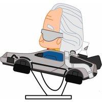 Figura Pokis Doc con Delorean Regreso Al Futuro