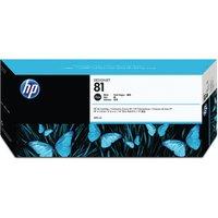 Image of HP 81 Black Inkjet Cartridge Dye Ink C4930A