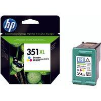 Image of HP 351XL Cyan/Magenta/Yellow High Yield Inkjet Cartridge CB338EE