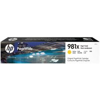 Image of HP 981X PageWide Yellow High Yield Ink Cartridge L0R11A