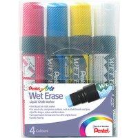 Image of Pentel Liquid Chalk Marker Chisel Tip Jumbo Assorted (4 Pack) SMW56/4-BCGW