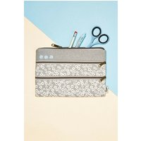 Image of Typo Double Archer Pencil Case Cherry Blossom Cool Grey